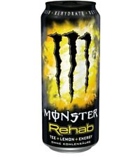 MONSTER Energy Rehab Lemon 500ml LATTINA SENZA AMMACCATURE! da COLLEZIONE estremamente raro! drink