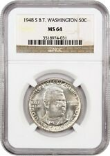 1948-S BTW 50c NGC MS64 - Low Mintage Issue - Silver Classic Commemorative