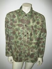 WWII USMC P-44 Reversible Frogskin Camo HBT Combat Shirt Jacket Size LARGE