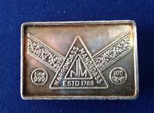Narrondass Manordass 100 Grams 3.2 Oz Silver Art Bar P1481