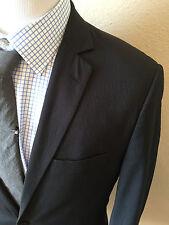 Ecko Blazer 2 Button Jacket Men's Size 38L Navy Blue Striped Casual Modern