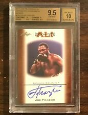 Joe Frazier signed card 2011 Leaf Muhammad Ali opponents BGS 9.5 auto