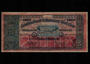 Newfoundland 25 Cents 1912-13 P-A9 * F+, many pinholes * Double Year Dates *