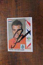 More details for rafael van der vaart (holland & ajax tottenham fc) hand signed panini sticker