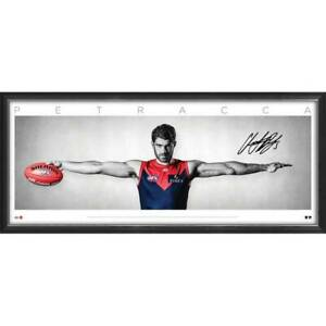Christian Petracca Signed Melbourne Demons Official AFL Wings Print Framed + COA
