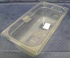 RUBBERMAID GN 1/3 100 mm tief Gastronorm-Behälter Polycarbonat klar ohne Griffe