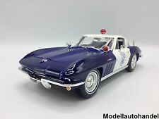 Chevrolet Corvette 1965 Police / Polizei 1:18 MAISTO - UVP 49,99 €    >>SALE<<