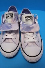 NEW! Girl's CONVERSE All Star CT Double Tongue OX Sneakers, Lite Purple Junior 4
