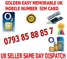GOLDEN EASY MEMORABLE UK VIP MOBILE PHONE NUMBER 0793 85 88 85 7 PLATINUM SIM