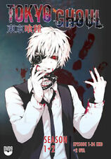 DVD Tokyo Ghoul Season 1+ 2 (Vol. 1 - 24 End) + 2 OVA with English Audio Uncut