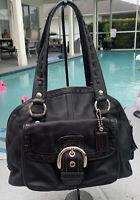 Coach Soho Courtney F13111 Black Leather Satchel Shoulder Handbag ECU +dust bag
