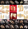 Vintage Women Fashion Lots Style Gold Plated Bangle Punk Cuff Bracelet Jewelry O
