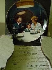 "Rockwell's Light Campaign- ""Birthday Wish"" - Collector Plate-Ge"