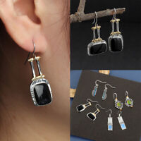 naturelle bohème gypsy bijoux avec crochet pierres gemmes boucles d'oreilles