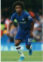 "ORIGINAL Willian Autographed Chelsea Signed 12"" x 8"""