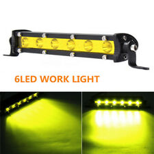 7inch 18W Yellow LED Work Light Bar Spot Beam SUV Boat Driving Lamp Offroad 4WD