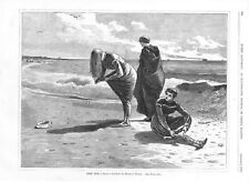High Tide   -   by Winslow Homer   -  1870  Antique Print