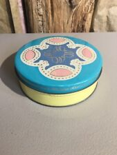 D. E. Wolfgang's Candy Co Candies Tin Flower Vintage Yellow Blue Pink York PA