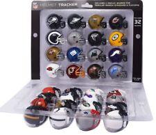 NFL AMERICAN FOOTBALL SET OF 32 RIDDELL MINI HELMETS TRACKER SET & BOARDS