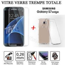 ★ Vitre Film Protection VERRE Trempé Incurvé Total Écran Samsung Galaxy S7/Edge