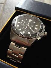 Brand New Stauer Swiss Deux Mondes Cronograph Dive Watch Assembled in USA!!!!