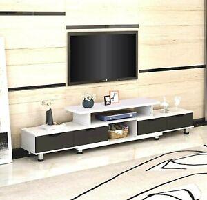 160 - 230cm Adjustable Length Large TV Stand Entertainment Unit Cabinet
