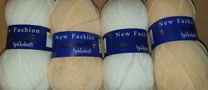 Woolcraft new fashion 100g DK Wool x2 white 2 peach bundle Knitting & Crochet