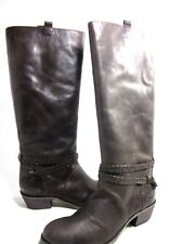 CHARLES DAVID WOMEN'S ROVER MID-CALF BOOT, BROWN LEATHER, US SIZE 10 MEDIUM