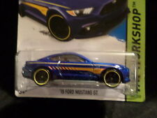 HW HOT WHEELS 2015 HW WORKSHOP #247/250 '15 FORD MUSTANG GT HOTWHEELS BLUE VHTF