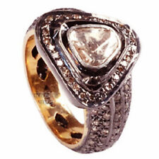 Victorian Inspired 1.85Cts Natural Rose Antique Cut Diamond Silver Ring Jewelry