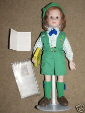 EXC Avon Tender Memories #3 Girl Scout - selling cookies - doll w/ stand & COA