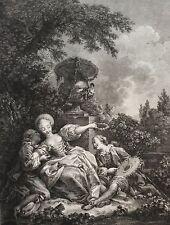 Moreau Jean-Michel le Jeune  La coquette fixee XVIII retirage XXe