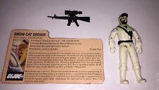 Frostbite 1985 GI Joe ARAH Figure, Case, File Card & Complete Accessories Lot M