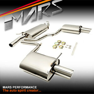 MARS Dual Outlet Twin Muffler Exhaust CatBack System for AUDI A4 B6 B7 1.8T 2.0T