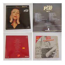 Edith PIAF disque d'or + double album Mon légionnaire 3 disques vinyles 33 tours