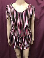 Michael Kors Top Womens ~ Size Small ~ Great Cond Blouse Patterned Print Design