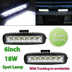 2x 18W Spot LED Work Light Bar Car Truck Boat Driving Lamp Fog Offroad SUV 4WD