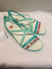 NEW Crocs Womens Isabella Sandal Shoe Mint Oyster Sz:10