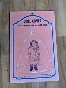 """Vintage Doll Clear Cover Protection For Valuable 12"""" Dolls"""
