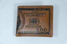 Wallet New Hundred Dollar Bill Light Brown Bi Fold