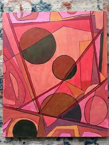 """LISTED ARTIST vintage painting ABSTRACT modernist Dr. Benjamin Gross 20"""" x 24"""""""