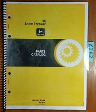John Deere 36 Snow Thrower Parts Catalog Manual Pc-877 5/78