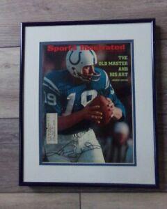 🔥 Vintage Sports Illustrated Cover Framed Matted Signed JOHNNY UNITAS COA HOF