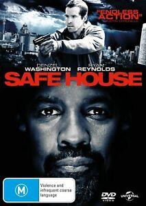 Safe House DVD Ryan Reynolds Denzel Washington ACTION THRILLER MOVIE - AUSTRALIA