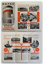 Prospekt Hapag Bilder aus dem Betriebe der Hamburg Amerika Line um 1930 Reise xy