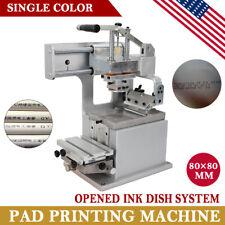 Single Color Manual Pad Print Machine Printer Opened Ink Plate Dish System Diy