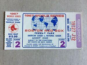 TICKET STUB 10/5/67 WORLD SERIES GAME 2 FENWAY PARK CARDINALS @ RED SOX YAZ 2HRs