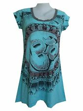 Yoga Mini Dress Om Aum Hindu India Zen Nirvana Hobo Boho Weed Hippie Free Sz tq