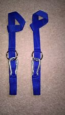 """Westernway"" Hay net hanger. Horse box / lorry, stable or tack room tidy. Blue."