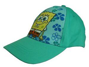 SpongeBob SquarePants Hat Baseball Cap for Boys / Girls Green/Blue Nickelodeon